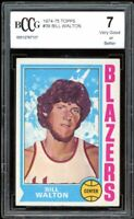 1974-75 Topps #39 Bill Walton Rookie Card BGS BCCG 7 Very Good+