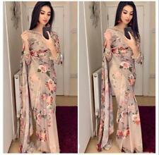 Floral Saree New Sari Indian Printed Designer Wear Print Party Wedding Pakistani