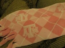 Texas AM University Scarf Muffler College Fleece Neckwarmer Pink and White Aggie