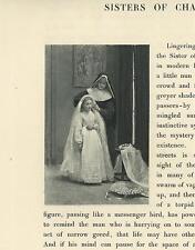 ANTIQUE CATHOLIC NUN HABIT GIRL FIRST COMMUNION DRESS VICTORIAN OLD SMALL PRINT