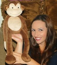 "Lambs & Ivy Cocoa Monkey Papagayo Brown Plush Soft Toy Stuffed Animal 19"" LOVEY"