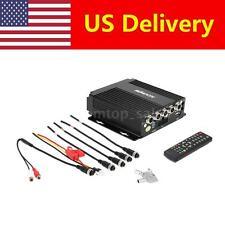 Mini Realtime SD Car Mobile DVR 4 Channel Video/Audio Input Remote Control U0H9