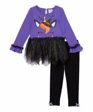 NWT Purple Halloween Unicorn Witch Long Sleeve tee  and leggings.