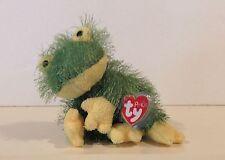 Ty Hopscotch Shag Frog Plush Beanie Baby Punkies Stuffed Animal