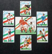 1CUBA Sc# 3108-3113  WORLD CUP OF SOCCER football CPL set of 6 + S.S.  1989