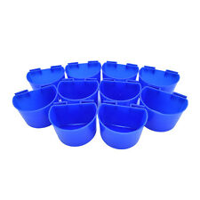 10Pcs Cup Hanging Water Feed Cups Cage Poultry Gamefowl Pets Rabbit Chicken