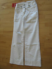 MADOC Damen Stretch Jeans Bootcut Hose weiß Gr. 36 Kurzgröße 18 K
