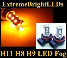 TWO Orange Amber H11 H8 H9 SMD LED Fog Driving DRL Lights Bulbs #B