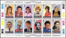 CORONATION STREET 12-Stamp Sheet of Corrie Characters Set (1995 Davaar Scotland)