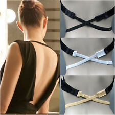 3 Pcs Women Low Back Backless Cotton Bra Strap Converter Extender Hooks 3 Colors