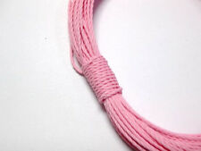 50 Meters Pink Waxed Polyester Twisted Cord String Thread Line 1mm