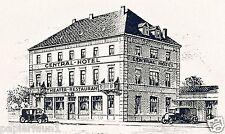 Hotel Central Oldenburg Reklame von 1927 Hülskötter Werbung Diener