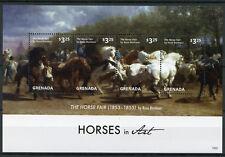 Grenada 2015 MNH Horses in Art Horse Fair by Rosa Bonheur 4v M/S I Stamps