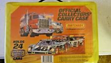 Matchbox Official Collectors Carry Case 1983 w/19 Cars