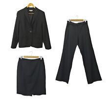VERONIKA MAINE Womens 3 Piece Suit Jacket (12) Skirt (10) Pants (10) Wool Blend