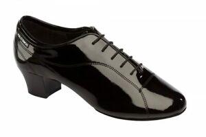 Supadance 8503 Mens Split Sole Black Patent Leather Latin Dance Shoes UK Size 6