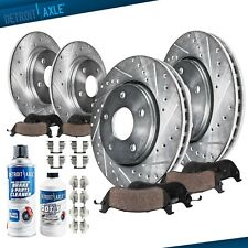 Front Rear Brake Rotors +Ceramic Brake Pads Subaru Legacy Outback Impreza Brakes