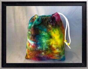 Gymnastics Leotard Grip Bags / Bright Rainbow Tie Dye Gymnast Birthday Goody Bag