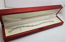 White gold finish created diamond vintage design tennis bracelet