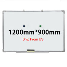 "48""x36"" Single Side Magnetic Writing Whiteboard Dry Erase Board Office W/ Eraser"