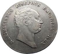 1816 GERMANY Kingdom of Bavaria MAXIMILIAN I Joseph Silver Taler Coin i70676