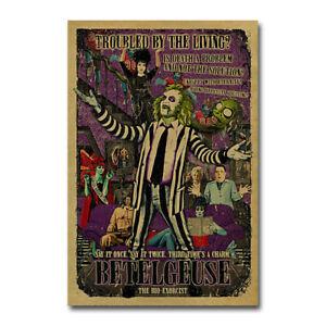 Beetlejuice Movie Art Canvas Silk Poster Wall Art Living Decor Print 24x36 inch