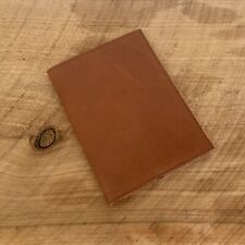 Tan Genuine Leather Passport Cover Travel