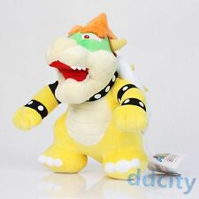 "Super Mario 10"" Standing King Bowser Koopa Plush Toy Stuffed Doll New Year Gift"