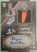 RYAN FINLEY RPA 2019 PANINI MAJESTIC RPA ROOKIE PATCH AUTO 33/99 BENGALS! NFL RC