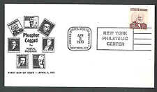 1973 COVER #1290a 25c FDC TAGGED CACHETED CATS $45.00