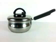 Cooks Essentials Saucepan with Vent-able Lid 1 Quart Stainless Steel Nonstick