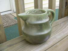 Vintage Fulper Potteries  Green rutile volcanic glaze small pitcher #830 M