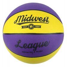 Midwest Unisexs League Basketball YellowPurple Size 7