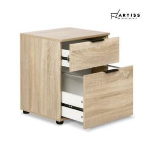 RETURNs 2 Drawer Filing Cabinet Office Shelves Storage Drawers Cupboard Wood Fil