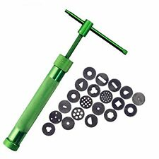 New Clay Extruder Polymer Clay Extruder Gun With 20 Discs Green