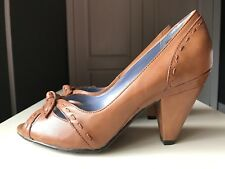 Hush Puppies Designer Women Sandal High Heel Shoe Peep Toe Leather Size 6 39