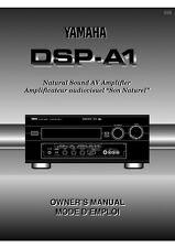 Yamaha DSP-A1 Amplifier Owners Manual