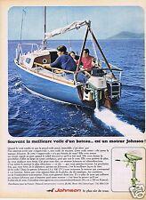 Publicité Advertising 026 1967 Johnson moteurs de bateaux