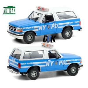 GREENLIGHT 19087 1992 FORD BRONCO LIGHT BLUE NYC POLICE NYPD DIECAST CAR 1:18