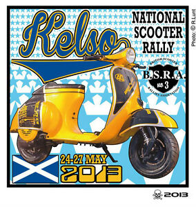 2013 KELSO SCOOTER RALLY RUN  PATCH MODS SKINHEADS not PADDY SMITH