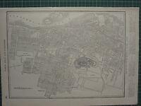 1926 Mapa ~ Montreal Ciudad Plan Quebec Canada Montaje Real Park Lavabo Pier