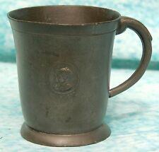Vintage Pewter George VIth Coronation Mug Birmingham Gazette Souvenir