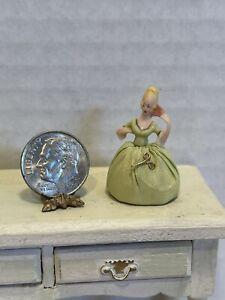 Vintage Artisan Amazing Porcelain Pin Cushion Doll Dollhouse Miniature 1:12