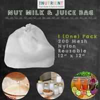 Nut Milk Strainer Bag -  x1 (One) 12x12 Premium Commercial Grade , Reusable