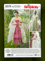 18th Century Costume Gown & Petticoat Sewing Pattern (14-22) Simplicity 8578