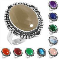 925 Sterling Silver Gemstone Ring Women Jewelry Size 5 6 7 8 9 10 11 12 13 Ui341