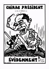 CPA Lardie caricature - Chirac Président de la Correze évidemment! (285379)