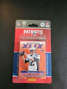 New England Patriots Super Bowl Champions 25 Card Set Tom Brady