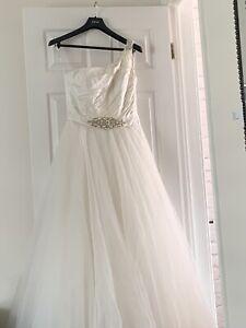 Wedding Dress 12 Cream Silk And Tulle