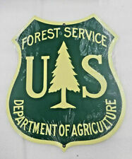 "16"" USFS forest service shield Ranger agriculture green logo Ad USA steel sign"